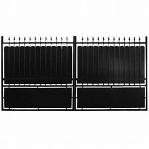 Portail 3 Metres : portail en fer noir lila 3m hauteur double ~ Premium-room.com Idées de Décoration