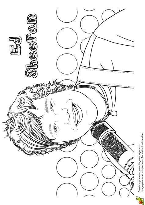 Ed Sheeran Kleurplaat by Coloriage Chanteur 224 La Mode Ed Sheeran
