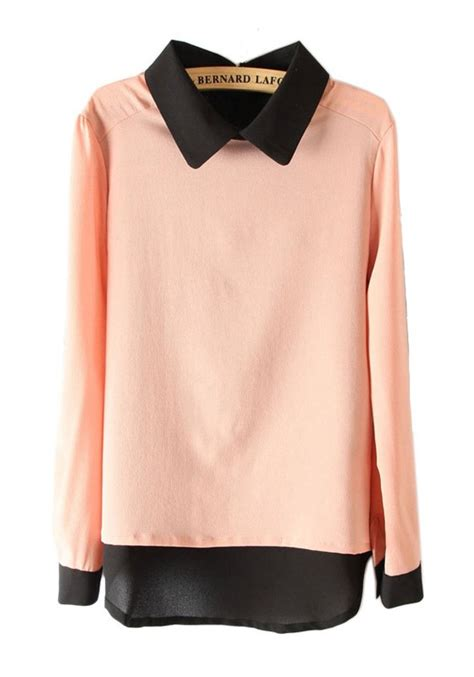 sleeve blouses for multicolor patchwork lapel sleeve chiffon blouse