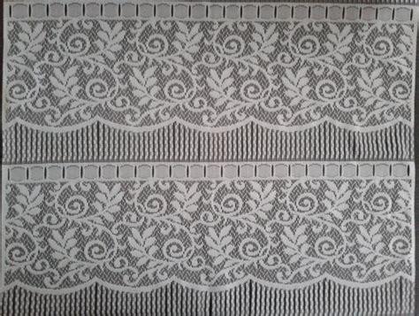 Rideau Brise-vue Blanc 60 Cm De Largeur Motif Arabesque