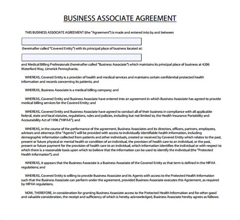 business associate agreement template 2017 business associate agreement template hipaa templates resume exles bqapderavz
