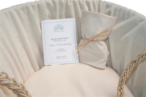 organic ivory jersey sheet for moses basket gimme the
