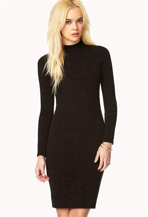forever 21 sweater dress lyst forever 21 must sweater dress in black