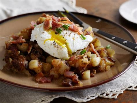 fried potatoes  poached eggs recipes cooking