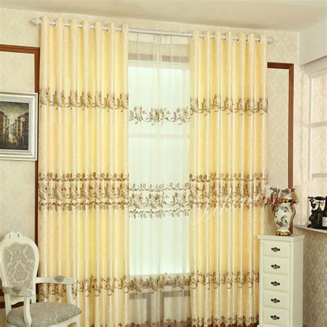 new fashion embroidery designs curtains for home hotel