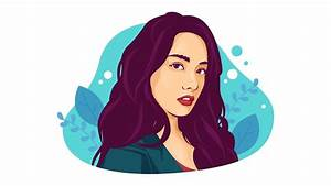 Timelapse  Vector Portrait Flat Illustration Using Adobe