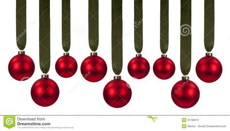 Red Glass Balls Decorative by Red Christmas Ornaments Stock Photos Image 31769913