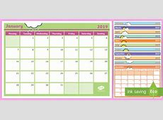 * NEW * 2019 Monthly Calendar Planning Template