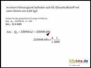 Wasser Berechnen : kraftstoffverbrauch und spezifischer heizwert youtube ~ Themetempest.com Abrechnung