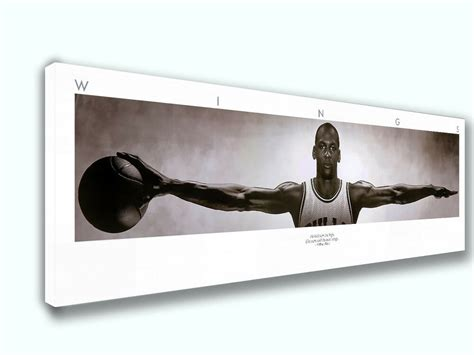 Tons of awesome air jordan 1 wallpapers to download for free. Michael Jordan Wings Panoramic Poster Canvas Print Home Decor Wall Art | eBay
