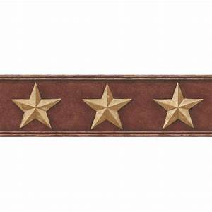 CT1848BD - Rustic Barn Star Border - Discount Wallcovering