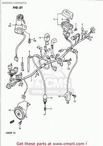 Suzuki Vx800 1992  N  Usa  E03  Wiring Harness
