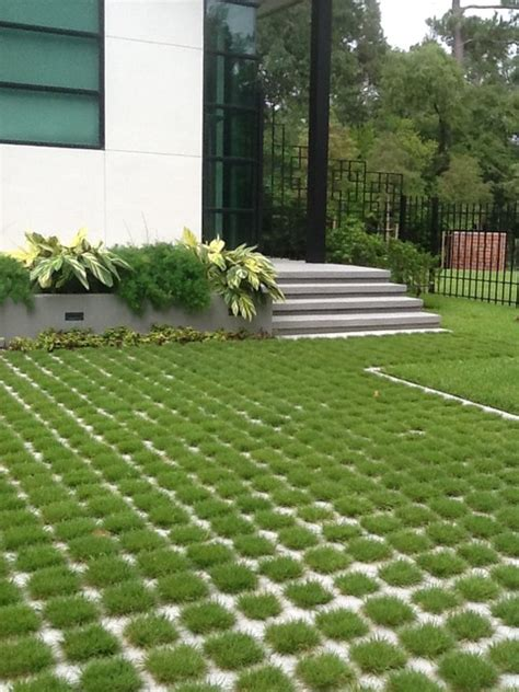 quot green driveway quot modern houston by patterned concrete by rick davis