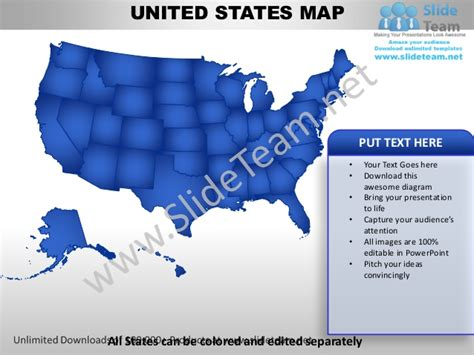 editable united states power point map  capital