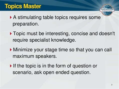 toastmasters table topics questions toastmasters club meeting roles and resposiblities