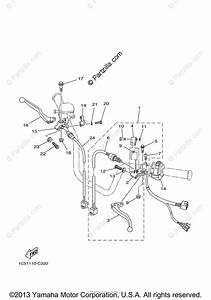 Yamaha Atv 2008 Oem Parts Diagram For Handle Switch