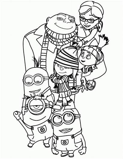 Coloring Minion Pages Printables