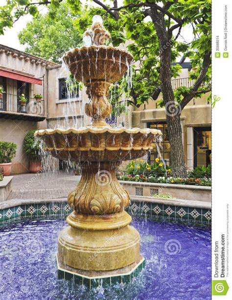 mexican fountains a lovely fountain in a mexican courtyard stock photo image 20888214
