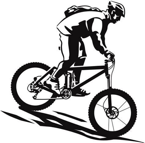 downhill mountain bike clip art cliparts