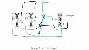 Light Switch Wiring Diagram With Outlet Brilliant Wiring