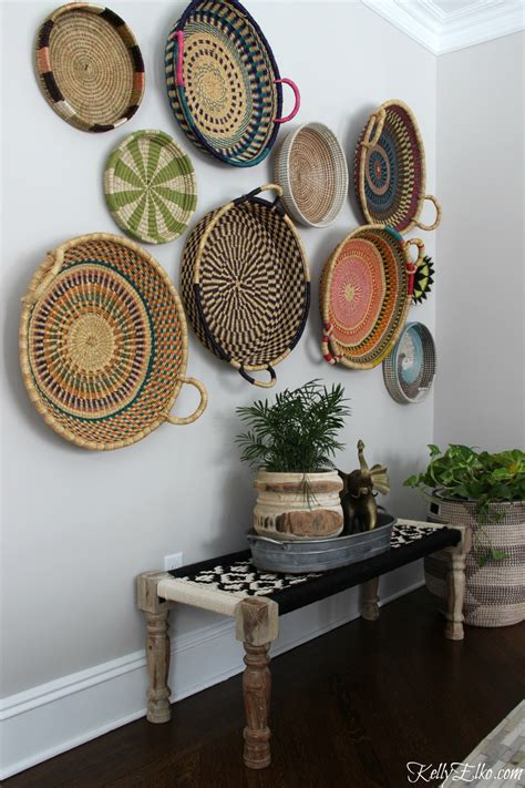 The most common basket wall decor material is wood & nut. Colorful Basket Gallery Wall - Kelly Elko