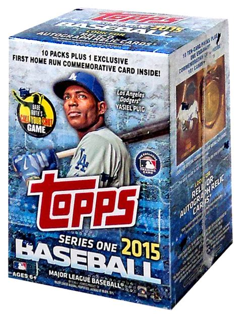 The first five are the guys that are popular that we believe have lots of upside. MLB Topps 2015 Series 1 Baseball Trading Card BLASTER Box 10 Packs - ToyWiz