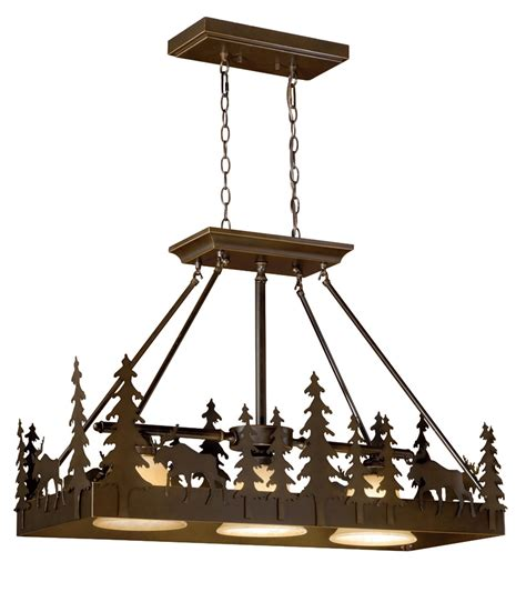 rustic chandeliers timberland island pendant light black