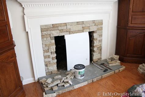 airstone fireplace airstone fireplace makeover on a diy budget inmyownstyle