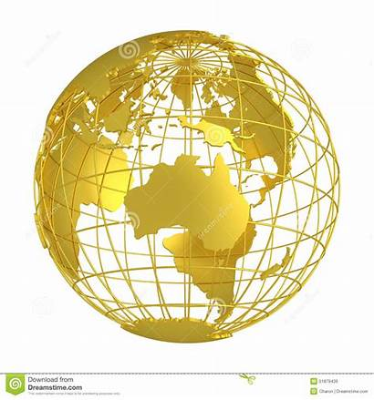 Globe Earth Golden Grid Planet Gold Wire