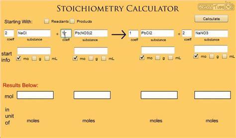 Stoichiometry Calculator Help - SchoolTube