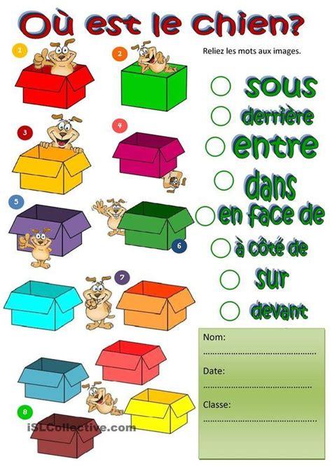 prepositions professeur de francais education