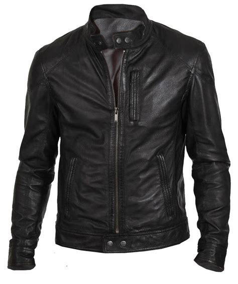black motorbike jacket men 39 s biker hunt black motorcycle leather jacket ebay