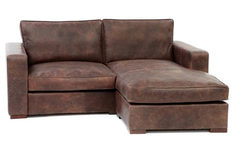compact leather sectional sofa battersea chaise end compact leather corner sofa from old