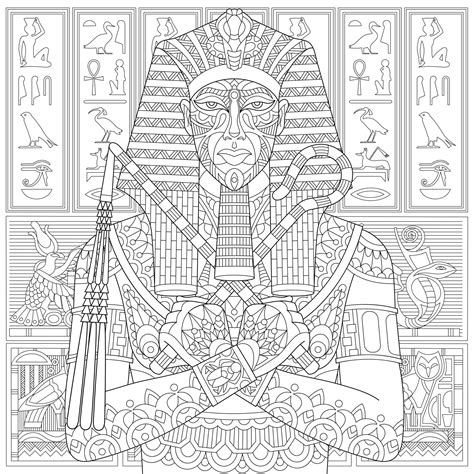 pharaoh  ancient egypt egypt adult coloring pages