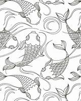 Coloring Pond Fish Pages Koi Camping Farm Animal Printable Animals Sheets Books Jan sketch template