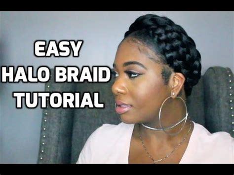 easy halo braid tutorial  braiding hair