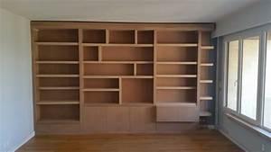 Bibliothque Meuble TV Et HiFi Sur Mesure En Mdium Massif