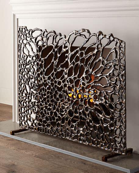 decorative fireplace screens richard collection organic bronze fireplace screen