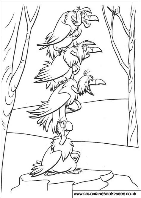 jungle book colouring pages disney printable sheets