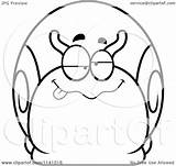 Drunk Dumb Snail Cartoon Coloring Clipart Outlined Vector Cory Thoman Royalty Template sketch template