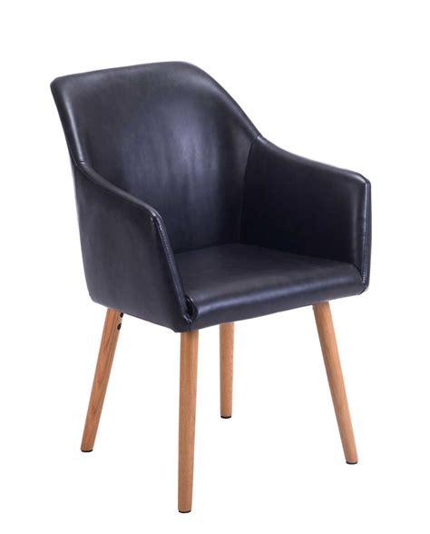 chaise de visiteur avec accoudoirs style scandinave dot kayelles