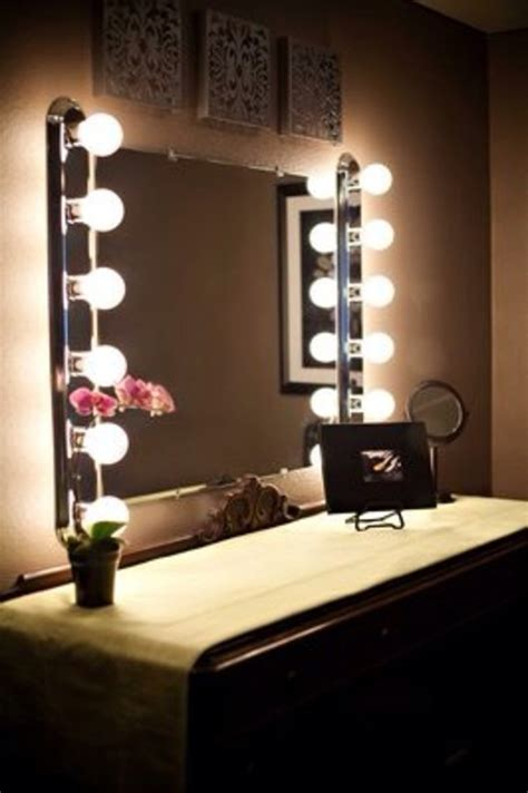 vanity table with light up mirror broadway lighted table top vanity mirror