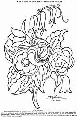 Coloring Quilt Pattern Block Crazy Template Embroidery Quilting sketch template