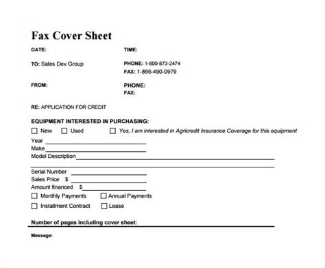 sample business fax cover sheet  documents   word