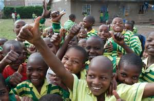 Happy Poor African Schools