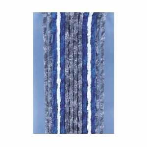 Rideau Gris Bleu : rideau chenille anti insectes gris bleu blanc 56x185 cm ~ Teatrodelosmanantiales.com Idées de Décoration