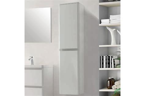 Colonne de salle de bain 2 portes de 1700 mm blanc laqué