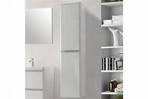 colonne de salle de bain 2 portes de 1700 mm blanc laque With porte de douche coulissante avec meuble salle de bain avec vasque colonne