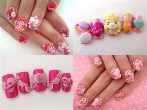 25+ Simple And Beautiful Japanese 3d Nail Art