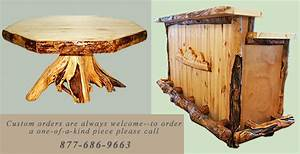 Online Sales of Rustic Aspen Log Furniture & Pine Log